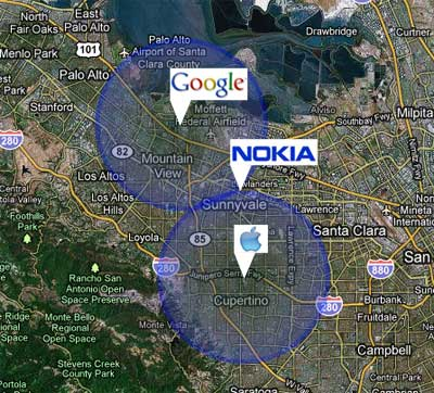 Google - Nokia - Apple